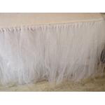 jupe table tulle blanc paillettes cérémonie fête