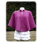 Cape laine bouillie femme violet