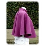 Cape mariage violet laine