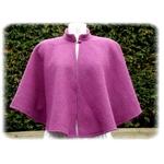 Cape mariée laine violette fait main