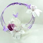 accessoire mariage papillons fleurs fait main