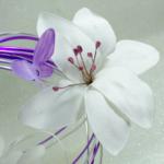 bouquet mariée fleurs papillon personnalisé