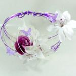 bouquet mariage original papillon fil aluminium fait main personnalisé