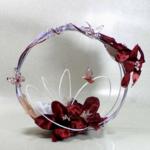 bouquet de mariée rond fil aluminium personnalisé