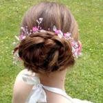 Couronne de fleurs mariage cristaux Swarovski