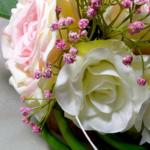 bouquet mariage romantique arum fleurs artificielles