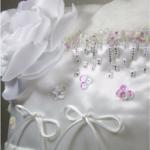 accessoire mariage personnalisé fait main satin blanc