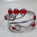 bracelet fil aluminium fait main