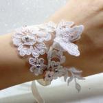 bracelet mariage strass dentelle
