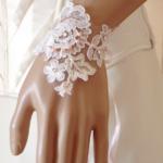 bracelet dentelle de Calais mariage personnalisé