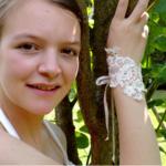 bracelet dentelle mariage fait main