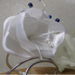 bracelet mariée fleur fil aluminium fait main