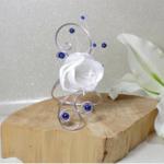 Bracelet mariage fleur personnalisé