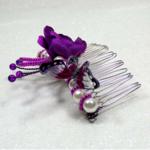 peigne à cheveux mariée papillon perles