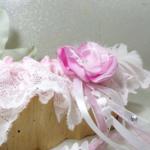jarretière de mariée dentelle fait main