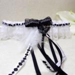 jarretière mariage papillon noir et blanc
