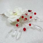 peigne mariée fleur perles