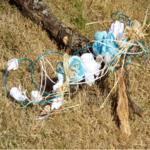 Bouquet de mariée cascade coquillage