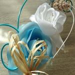 Bouquet de mariage tombant fleurs fil aluminium