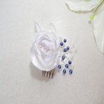 Peigne à cheveux fleur perles swarovski mariage