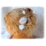 Peigne à cheveux fleurs communion mariage