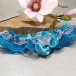 jarretière mariage personnalisé dentelle papillon