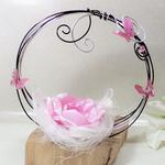 porte alliance original panier fleur mariage papillon