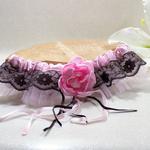 jarretière de mariée romantique dentelle de calais fait main personnalisée