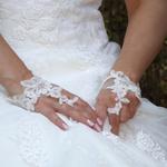 Mitaines mariage dentelle de Calais ivoire