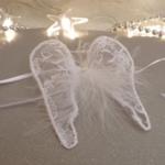 rond serviette ailes dange mariage déco
