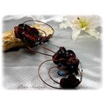 Bouquet mariée cascade turquoise marron