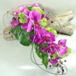 bouquet de mariée orchidée mariage fleurs artificielles fuchsia