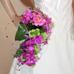 bouquet mariée orchidée fuchsia original