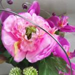 bouquet mariage fleurs artificielles orchidée renoncule