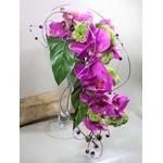 bouquet mariage tombant orchidée fuchsia original