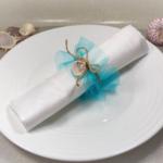décoration table de fête coquillage fait main