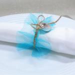 Rond de serviette coquillage mariage bapteme communion fête
