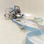 remonte traine mariage fleur perles rubans personnalisée