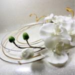 bouquet mariage orchidée blanc fleur artificielle original personnalisé