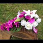 bouquet mariage orchidée cascade fuchsia