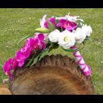 bouquet mariée orchidée fuchsia tombant cascade mariage fleurs artificielles