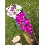 bouquet de mariée cascade Orchidée fuchsia blanc lys roses