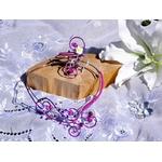 Parure bijoux mariage fleur de tiaré frangipanier fil aluminium fait main