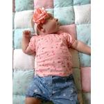 accessoire bébé fille personnalisé fait main fleur élastique