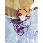 Bracelet fleur tiaré frangipanier mariage