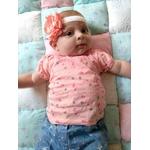 bandeau bébé fille sur-mesure fait main élastique