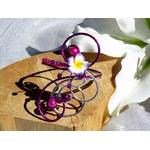 Bracelet mariage fleur fil aluminium