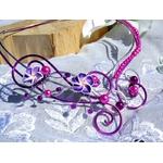 Collier mariage fleur tiaré fil aluminium fait main