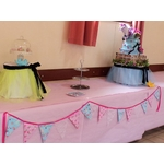Guirlande fanion rose fuchsia bleu mariage baptême anniversaire