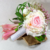 bouquet mariée romantique arum rose poudrée fleurs artificielles